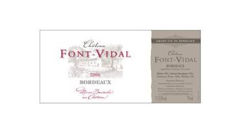 Château Font-Vidal – Bordeaux