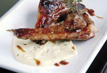 Crème de haricots beurre à l'amande et côtelettes d'agneau au sirop d'érable