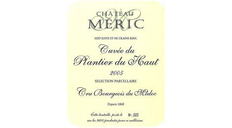 Château Méric - Année 2005 - Cuvée du Plantier