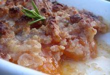 Crumble macarons et abricot
