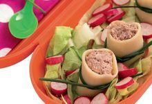 Cannelloni au chèvre frais, à la tapenade et au caviar de légumes