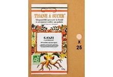 Le fruit à sucer goji/cannelle biologique (15 g environ 25 pastilles)