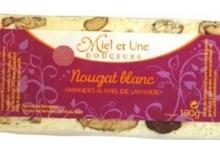 Nougat Blanc amandes et miel de lavande 100g