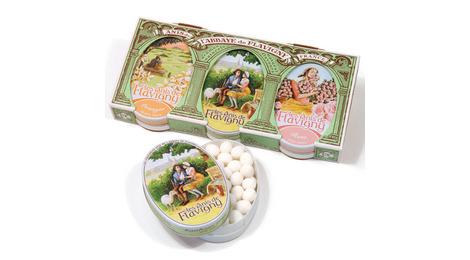 Anis de Flavigny - Fourreau de 3 Boîtes ovales - Anis, oranger, rose