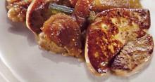 Foie gras poelé au vinaigre de miel
