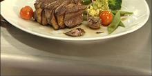Marbré de filet de boeuf gascon au foie gras et ail rose