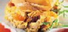 Dinde aux fruits secs et Rocamadour en croute