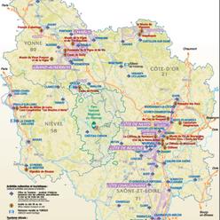 Carte Route Des Vins Bourgogne.Decouvrez La Bourgogne Par Ses Vignobles Prestigieux