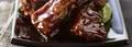 Travers de porc caramélisés sauce au gingembre et risotto aux amandes