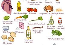 Millefeuille de pain de seigle à la crème de crabe