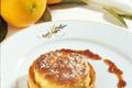 Tarte soufflée d'un risotto à l'écorce d'orange confite