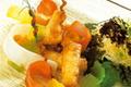 Langoustines croustillantes, vinaigrette à la confiture de bergamote