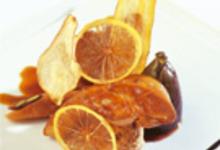 Foie gras poêlé, pastilla de dattes et confiture de figue
