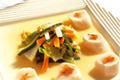 Nage de Coquilles Saint-Jacques et Légumes Croquants en Aigre Doux au Jasmin