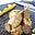 Pintade Fermière d'Auvergne en deux actes, purée fine de maïs, jus court