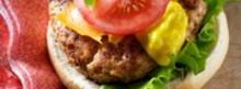 Burger de veau aux deux fromages