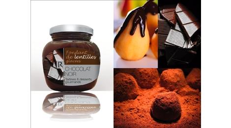 fondant de lentilles glaçées Chocolat Noir