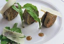 Cannelloni d'aubergine, tomate confite et Comté