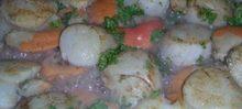 Les coquilles de St-Jacques au Perlé de Groseille