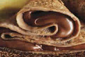 Crêpes légères au chocolat noisette et au coulis poire gingembre