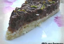 Tarte mousseux au chocolat & aux poires poêlées au miel