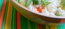 Risotto printanier aux légumes verts