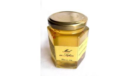 Pot de miel d'acacia au safran