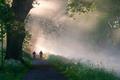 Cyclotourisme sur l'Eurovélo 6 près de Dole