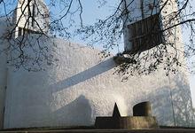 Chapelle de Ronchamp dessinée par Le Corbusier