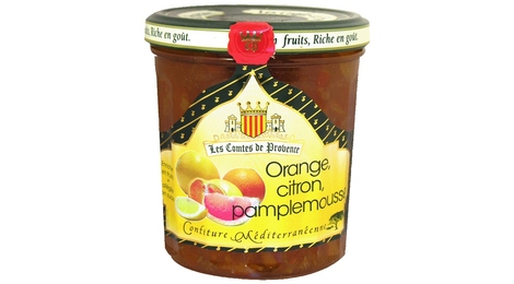 Confiture Méditerranéenne d'Orange Citron Pamplemousse