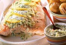 Filet de Saumon de Norvège grillé à la crème de fenouil tiède