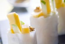 Rouleaux De Printemps Au Curry, A La Pomme Verte Et Aux Noix