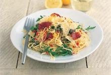 Spaghetti Roquette Prosciutto et Citron accompagné du Old Dutch Master