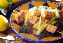 Brochette de Saumon de Norvège au fenouil