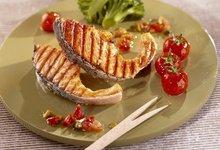 Côtelettes de Saumon de Norvège grillées à l'huile parfumée