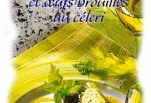 Truite rôties, jus au Bleu d'Auvergne et oeufs brouillés au céleri