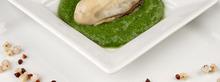Huîtres aux deux sarrasins et sauce verte