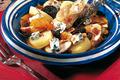 Tajine de cuisses de lapin, pommes de terre au safran et au Bleu d'Auvergne