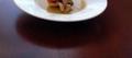 Potage de citrouille et tian de fruits de mer