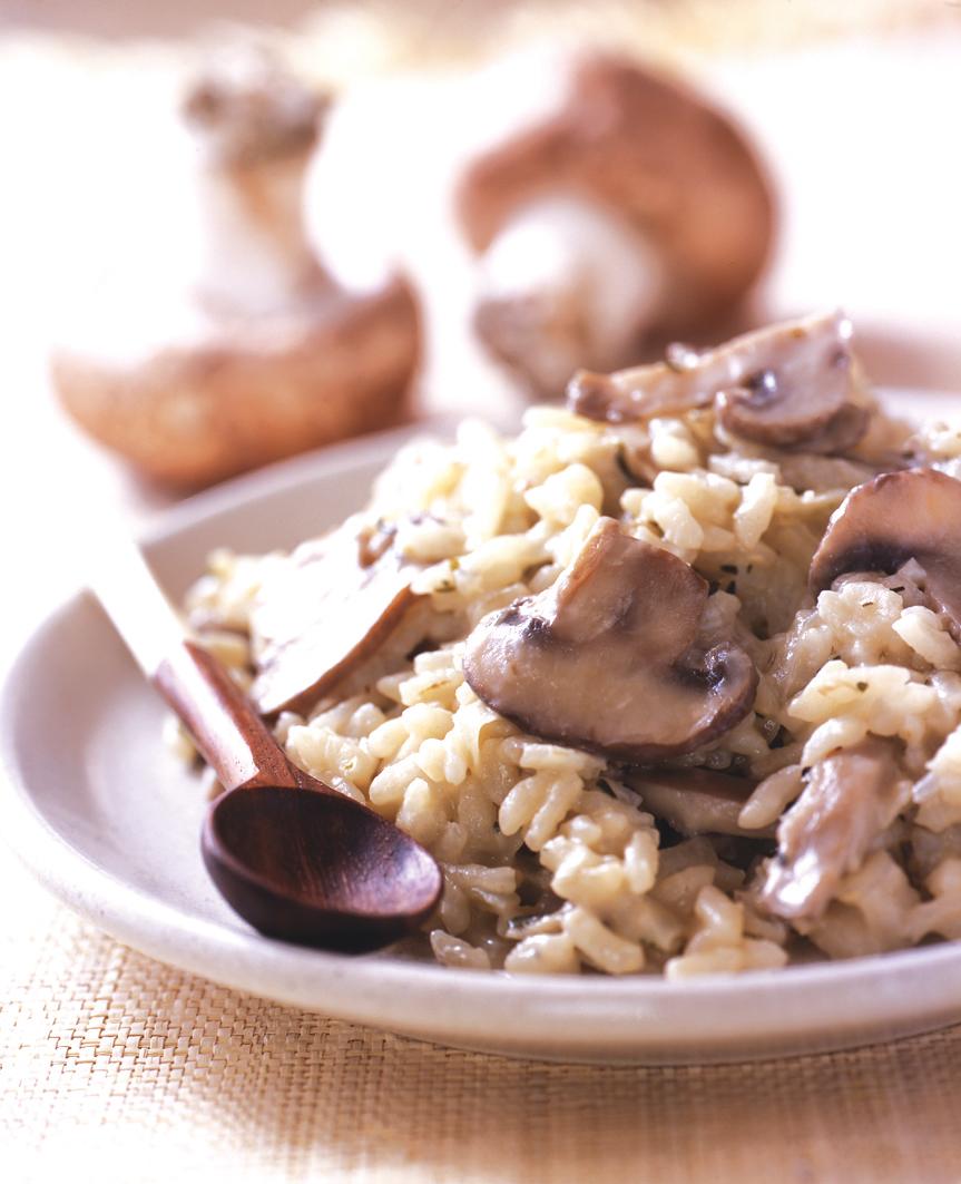 Recette risotto aux champignons