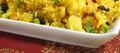 Poêlée safranée de riz et petits légumes