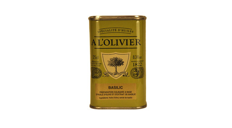 Huile d'olive au basilic 25cl