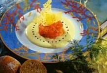 Tartare de saumon à la crème d'Ossau-Iraty
