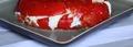 Millefeuille de chèvre frais, poivrons et tomates confites
