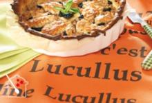 la tarte mozzarella, thon et tomates Lucullus Succulus
