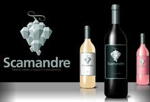 Le nouveau visuel de Scamandre. L'étiquette à gagné le Grand Prix Topvinis 2010