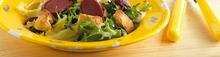 la salade de gésiers de canard confits
