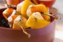 Piquets de volaille aux nectarines et vinaigre balsamique