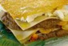 Lasagnes gratinées, au banon et au caviar d'aubergines