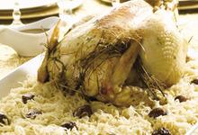 Chapon et choucroute à l'infusion de foin